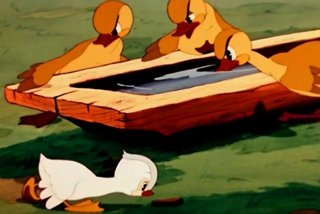 "Picture from the cartoon ""The Ugly Duckling"""